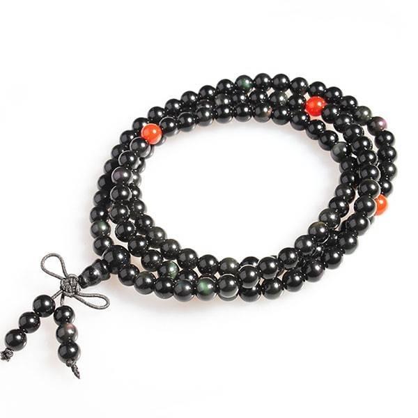 黑曜石手链带几颗珠子最好 黑曜石手链一串要串多少颗