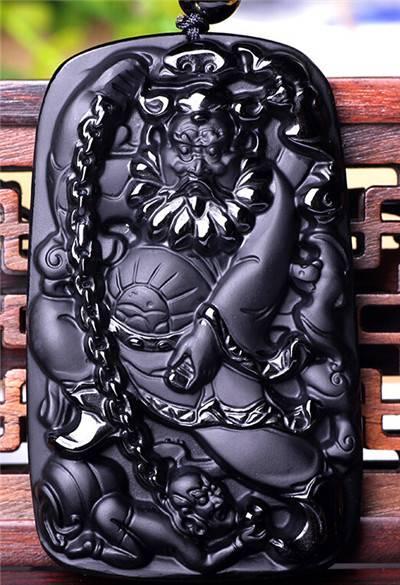 黑曜石钟馗吊坠有什么寓意 黑曜石钟馗吊坠代表的意义