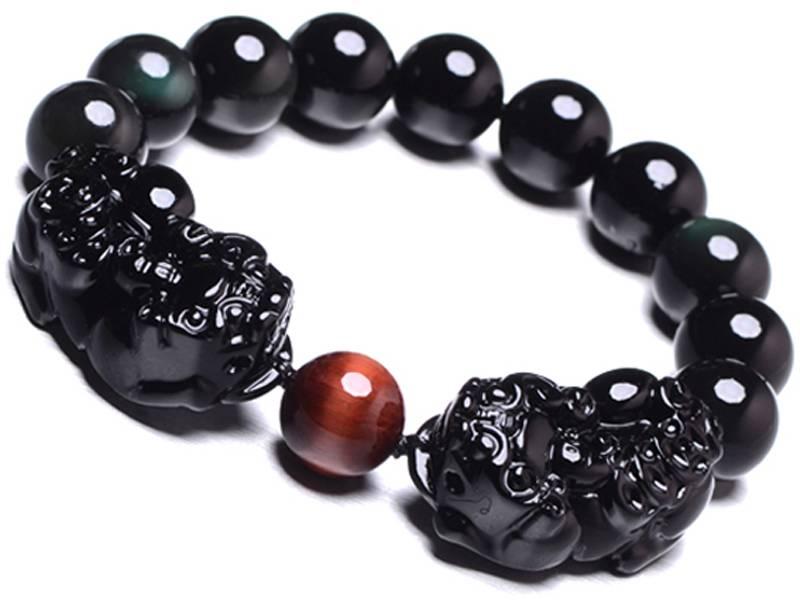 黑曜石貔貅手链的戴法 招财貔貅手链的戴法
